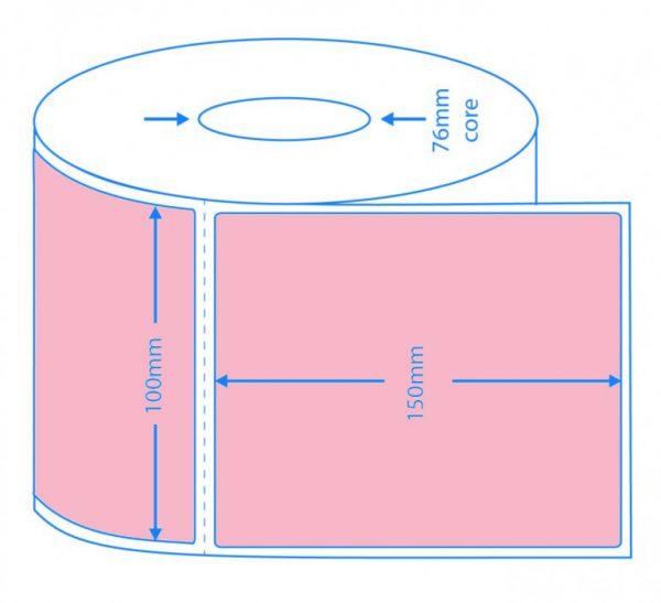 Pink Direct Thermal Labels