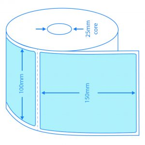 Blue Direct Thermal Labels