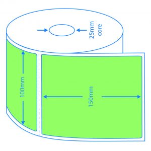 Green Direct Thermal Labels