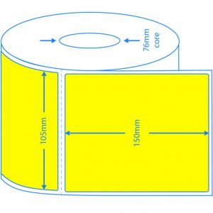 Direct Thermal Yellow Labels