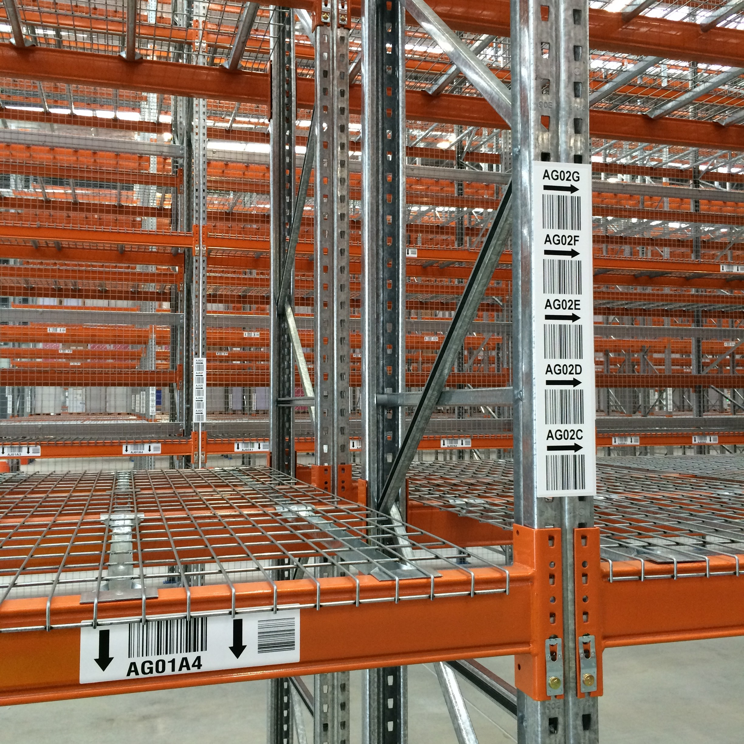 Spicers Racking Labels Upright and Horizontal